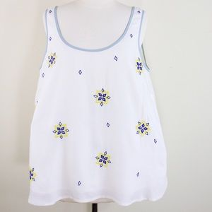 BODEN Festival sleeveless tank top embroidered 10